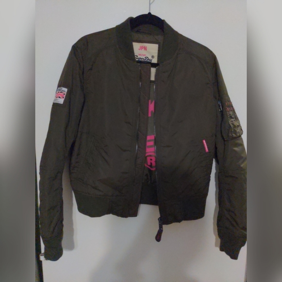 Superdry Jackets & Blazers - SuperDry Olive green bomber jacket